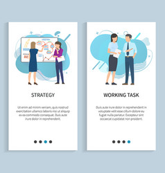 Strategy and work task planning and discussion vector