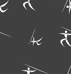 Summer sports Javelin throw icon sign Seamless vector image
