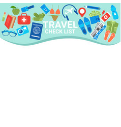 travel check list template copy space for vector image