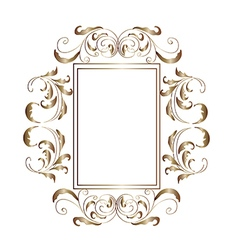 Victorian aluminum frame vector image