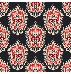Vintage damask seamless ornamental pattern vector
