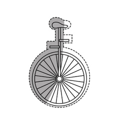 Vintage unicycle circus vector