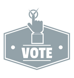 Vote logo simple gray style vector