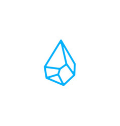 water stone drop logo icon vector image