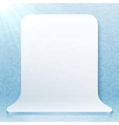 White realistic plastic studio backdrop vector image