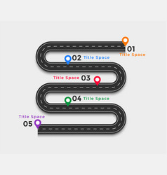 winding road infographic template design vector image