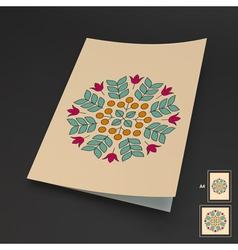 Floral Elements Textbook Booklet Notebook Mockup vector image