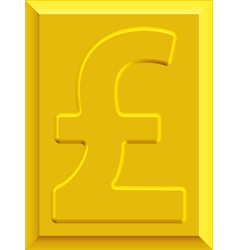 Gold pound sterling vector image vector image