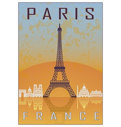Paris vintage poster vector image vector image