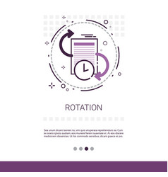 rotation update application process web banner vector image vector image