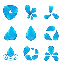 set of abstract icon waters designs vector image vector image