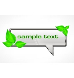 Speech bubble with green vector image vector image