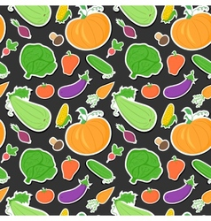 Vegetables seamless pattern background with great vector image