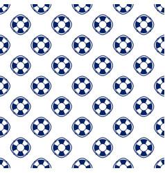 Blue lifebuoy seamless pattern vector