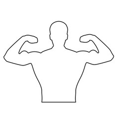bodyblder it is the black color icon vector image vector image