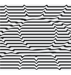 Design monochrome motion twisted twirl vector image