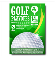 golf poster design for sport bar promotion vector image vector image