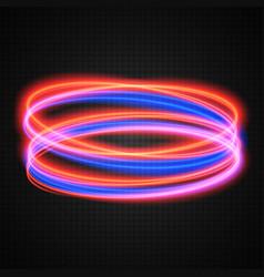 Neon circles transparent light effect vector