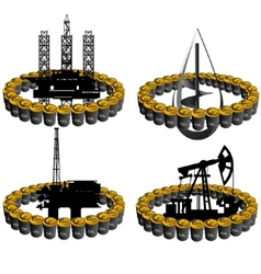 Petroleum business-4 vector image