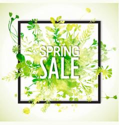 spring sale watercolor banner vector image