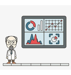 Analysis of information on the dashboard vector image vector image