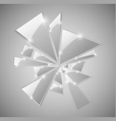 Broken glass shards vector