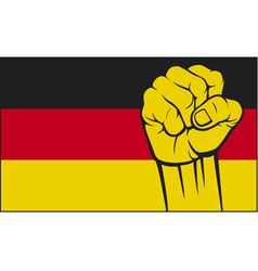 germany glag with fist vector image vector image