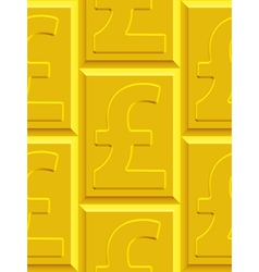 Gold pound sterling pattern vector image vector image