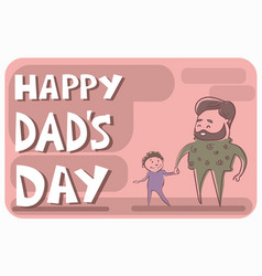 Happy father day family holiday man dad hold son vector