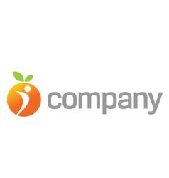orange energy logo for sport vector image vector image