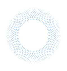 blue ring mosaic on white background stylish vector image