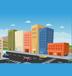 driving downtown vector image