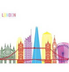 london v2 skyline pop vector image vector image