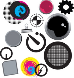 misc icons vector image vector image