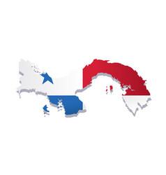 panama flag amp map vector image vector image