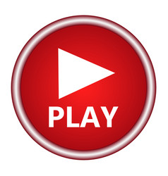 play button web icon vector image vector image