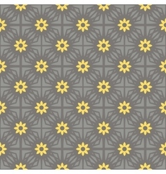 seamless pattern gray and yellow vector image vector image