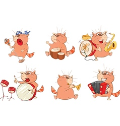 Set of Cute Cartoon Cats for you Design Cartoon vector image vector image