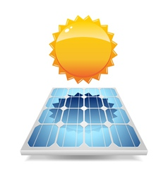 Solar panel with sun vector image vector image