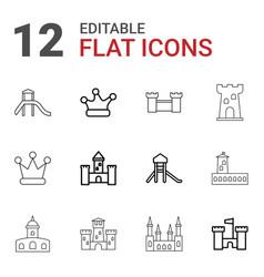 12 kingdom icons vector image