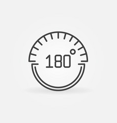 180 degrees concept icon in linear style vector