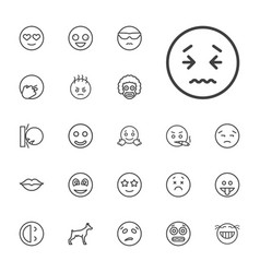 22 smile icons vector