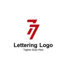 77 logo vector