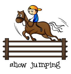 A show jumping vector image vector image