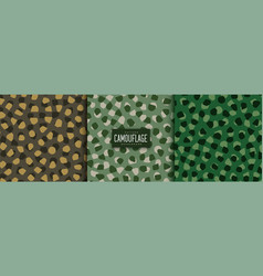 Abstract camouflage patterns set in voronoi style vector