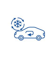 Air conditioning car service line icon concept vector