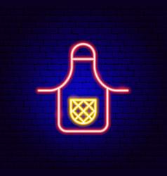 Apron neon sign vector
