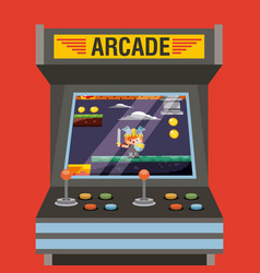 arcade video game machine with level knight vector image