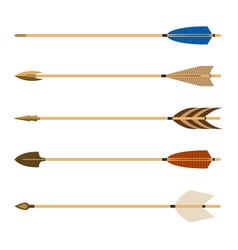 Archery arrows set isolated vector