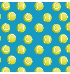 balls tennis seamless pattern design vector image